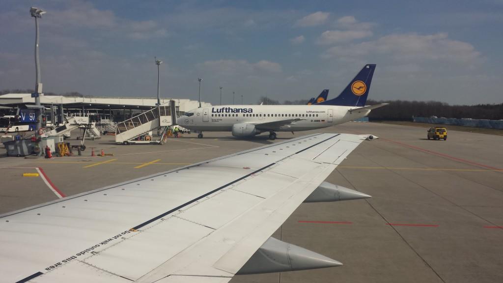 Boeing 737-500 der Lufthansa in Frankfurt