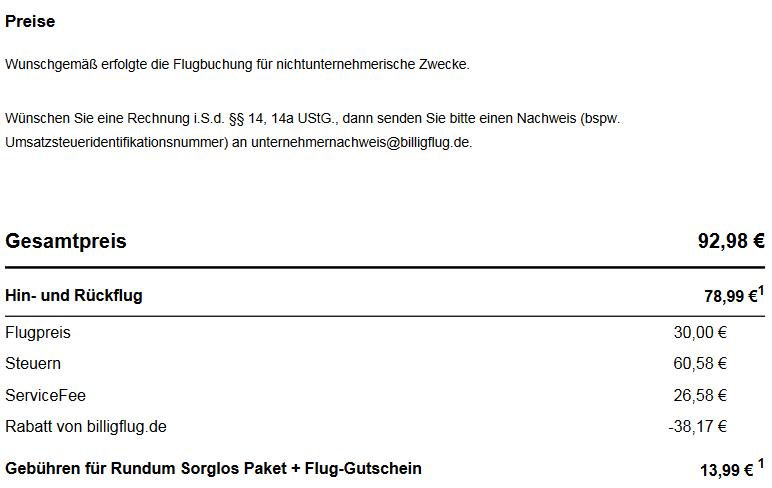 billigflug.de Abzocke